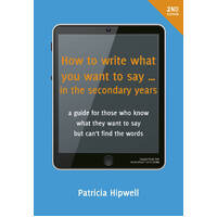 How to write what you want to say...